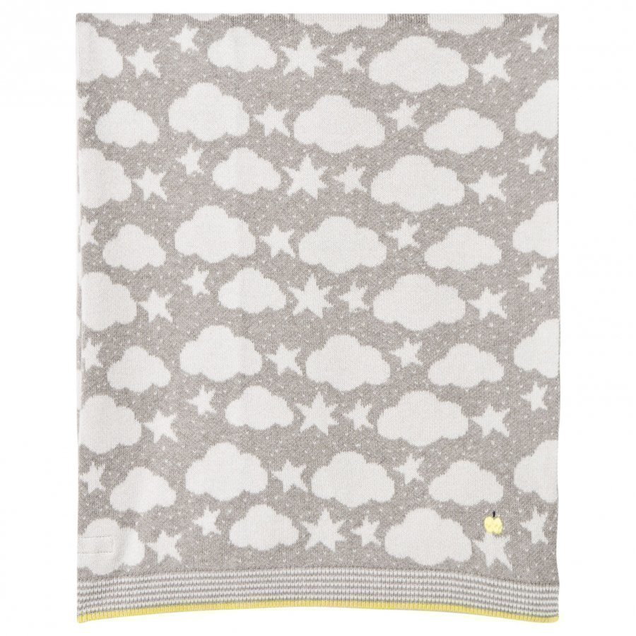The Bonnie Mob Stars And Clouds Jacquard Baby Blanket Grey Huopa