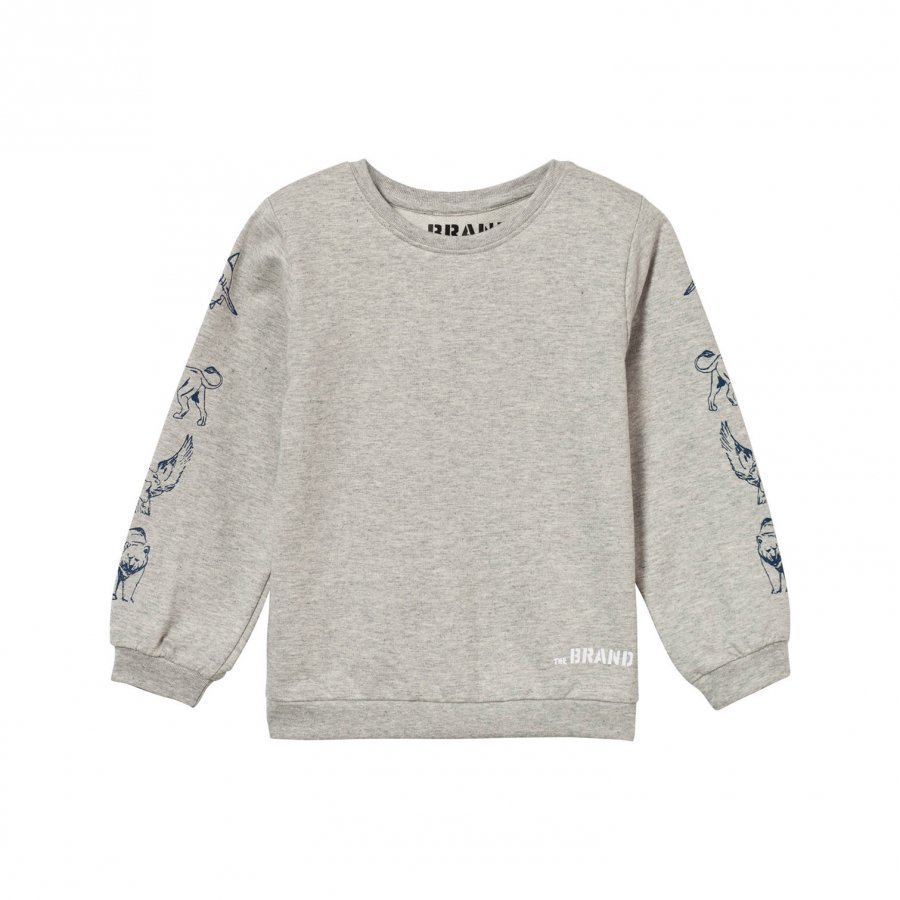 The Brand Animal Sweater Grey Melange Oloasun Paita