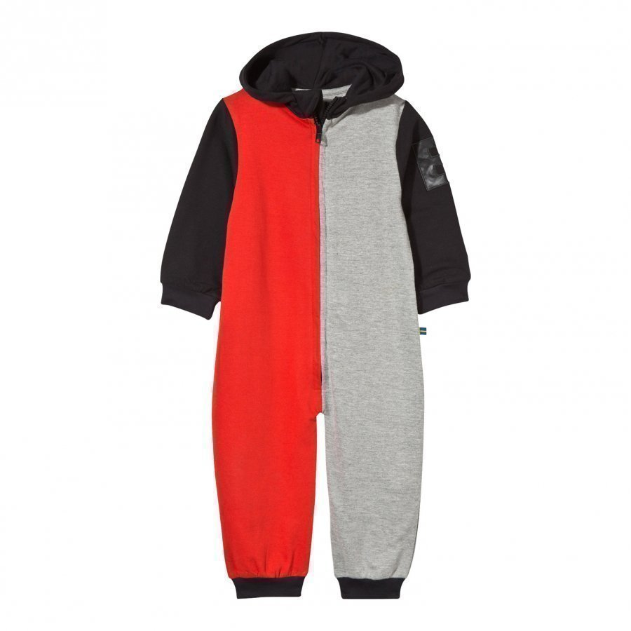 The Brand Baby Block Black Onesie Red Grey Mel Body