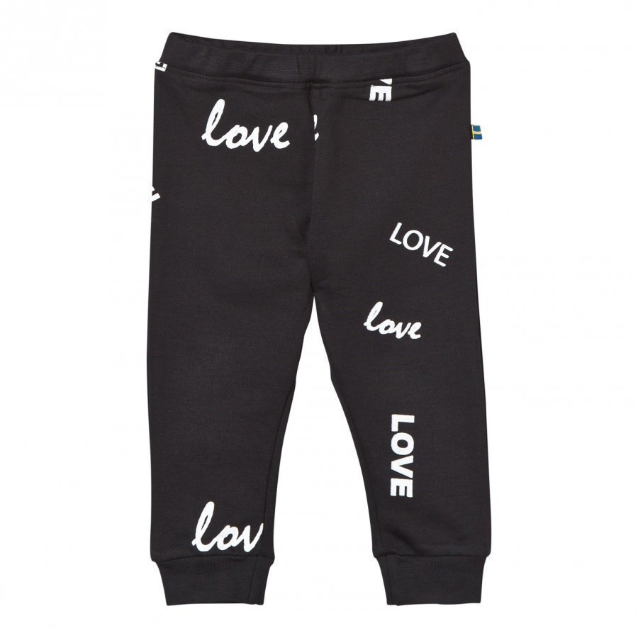 The Brand Baby Bomber Pants Black Love Verryttelyhousut