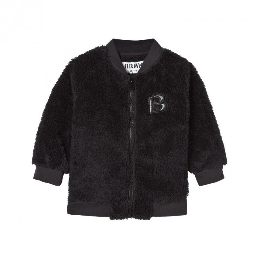 The Brand Baby Teddy Bomber Black Fleece Takki