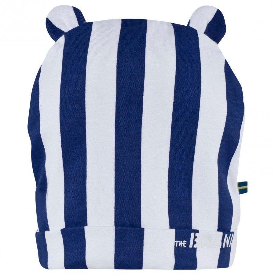 The Brand Bear Pipo Raidallinen Sininen/Valkoinen Pipo