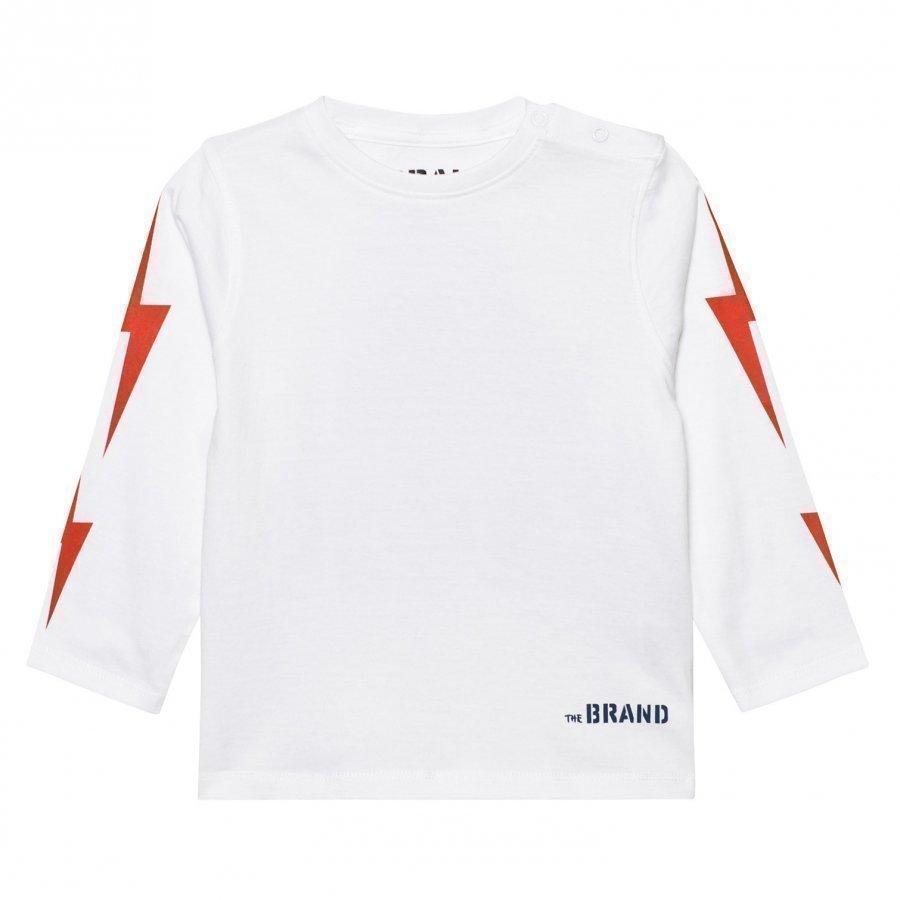 The Brand Boom Long Sl Tee White Pitkähihainen T-Paita