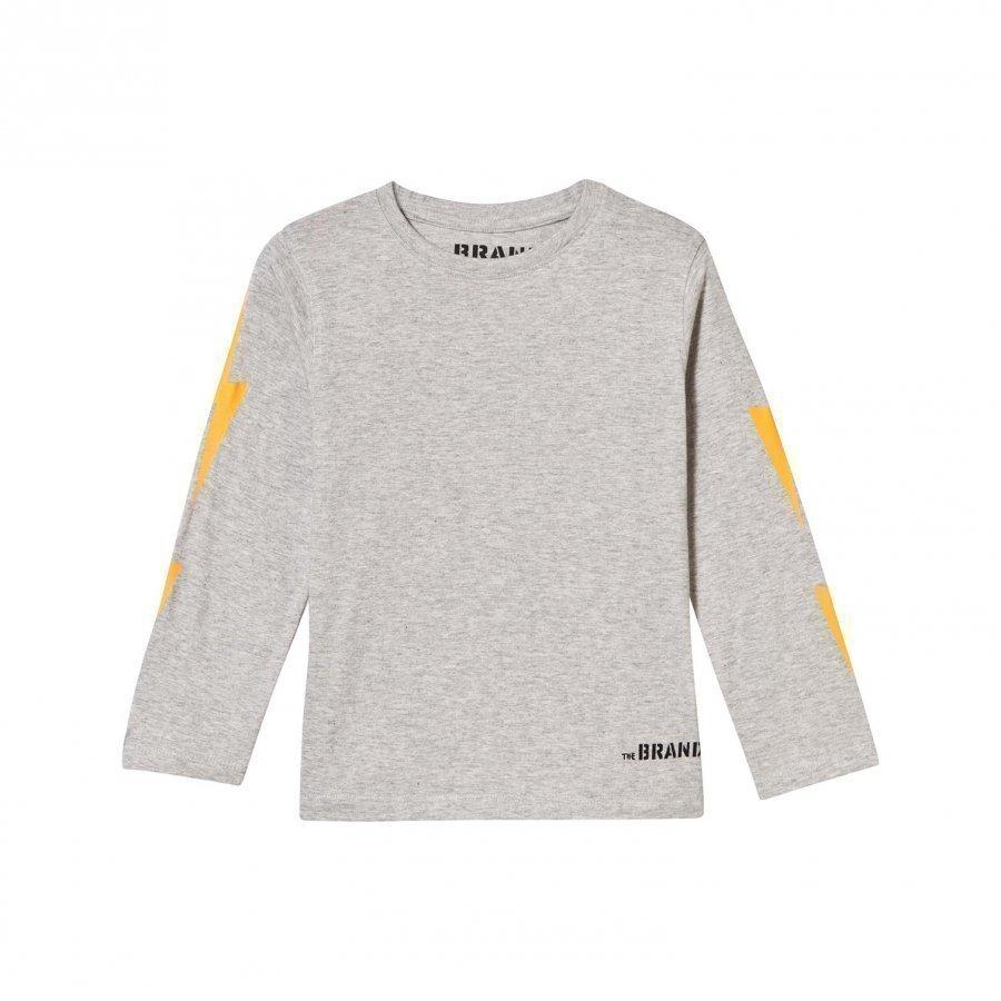 The Brand Boom Long Tee Grey Melange Pitkähihainen T-Paita