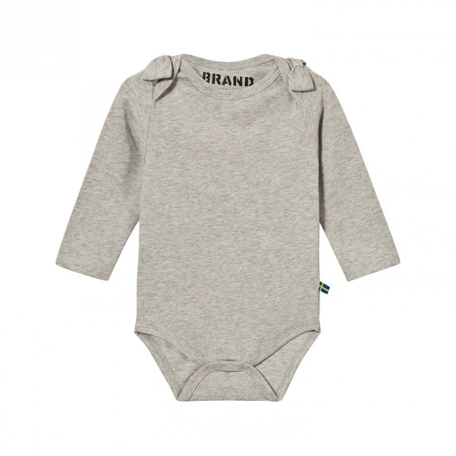 The Brand Bow Onesie Grey Melange Body
