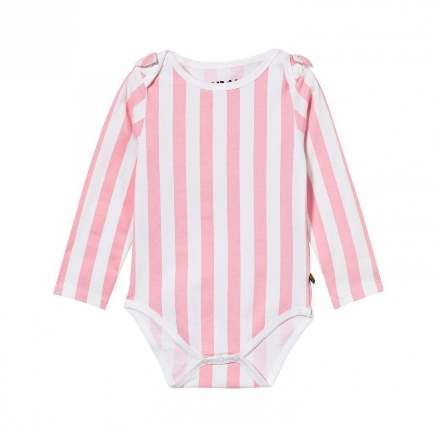 The Brand Bow Onesie Pink Stripe Body