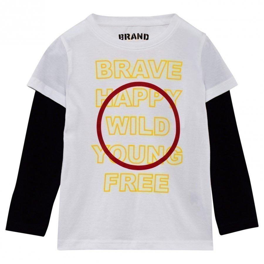 The Brand Brave T-Paita Valkoinen/Musta Pitkähihainen T-Paita