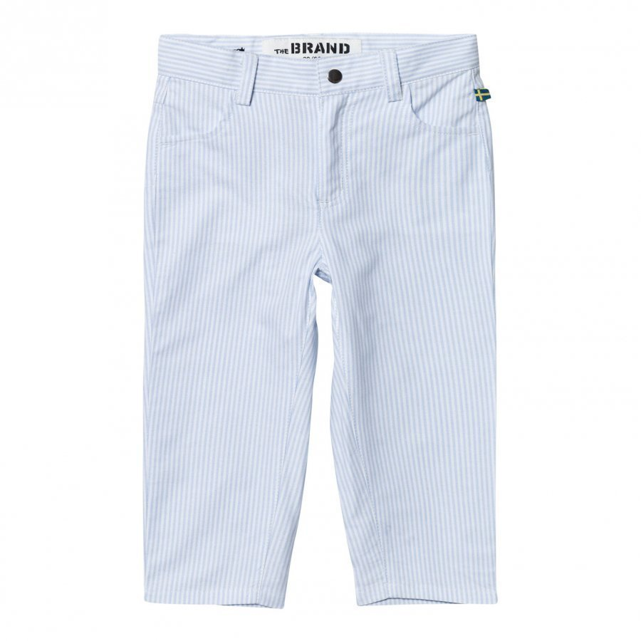 The Brand Chinos Thin Blue Stripe Classic Chinos Housut