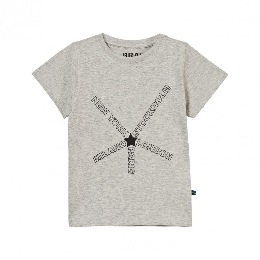 The Brand City Tee Grey Melange T-Paita