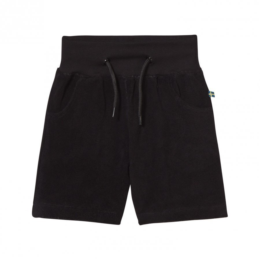 The Brand Cotton Terry Jonta Shorts Black Oloasun Shortsit