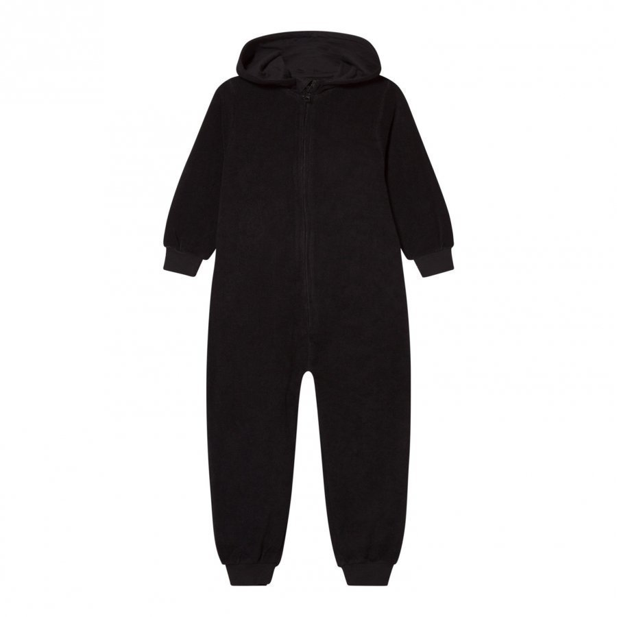 The Brand Cotton Terry Onesie Black Potkupuku