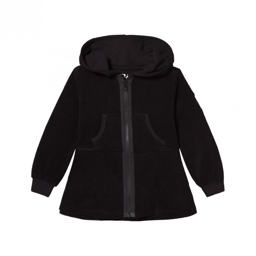 The Brand Cotton Terry Peplum Hoodie Black Huppari
