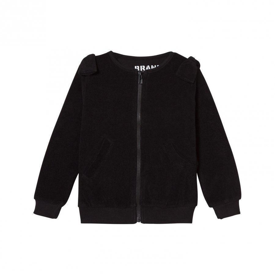 The Brand Cotton Terry Zip Sweater Black Neuletakki