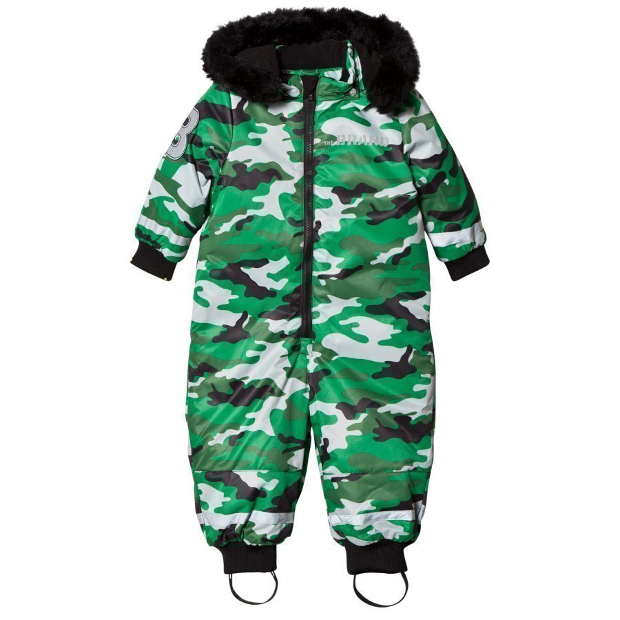 The Brand Coverall Light Camo With Black Fur Toppahaalari