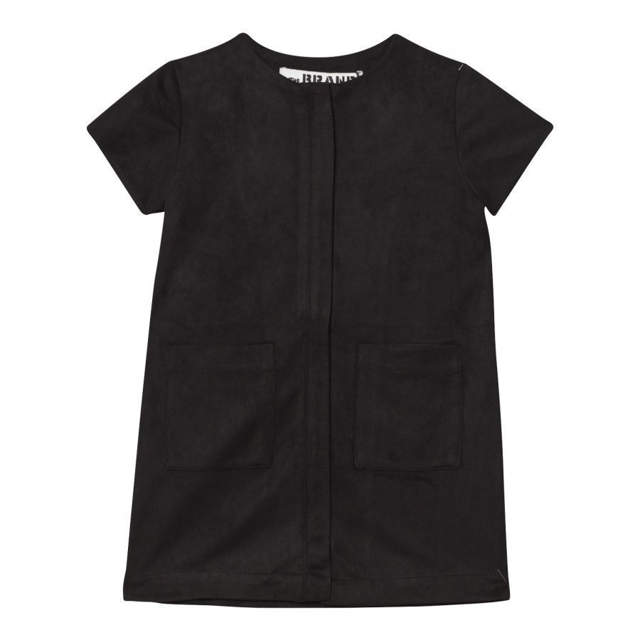 The Brand Denim Dress Black Suede Mekko