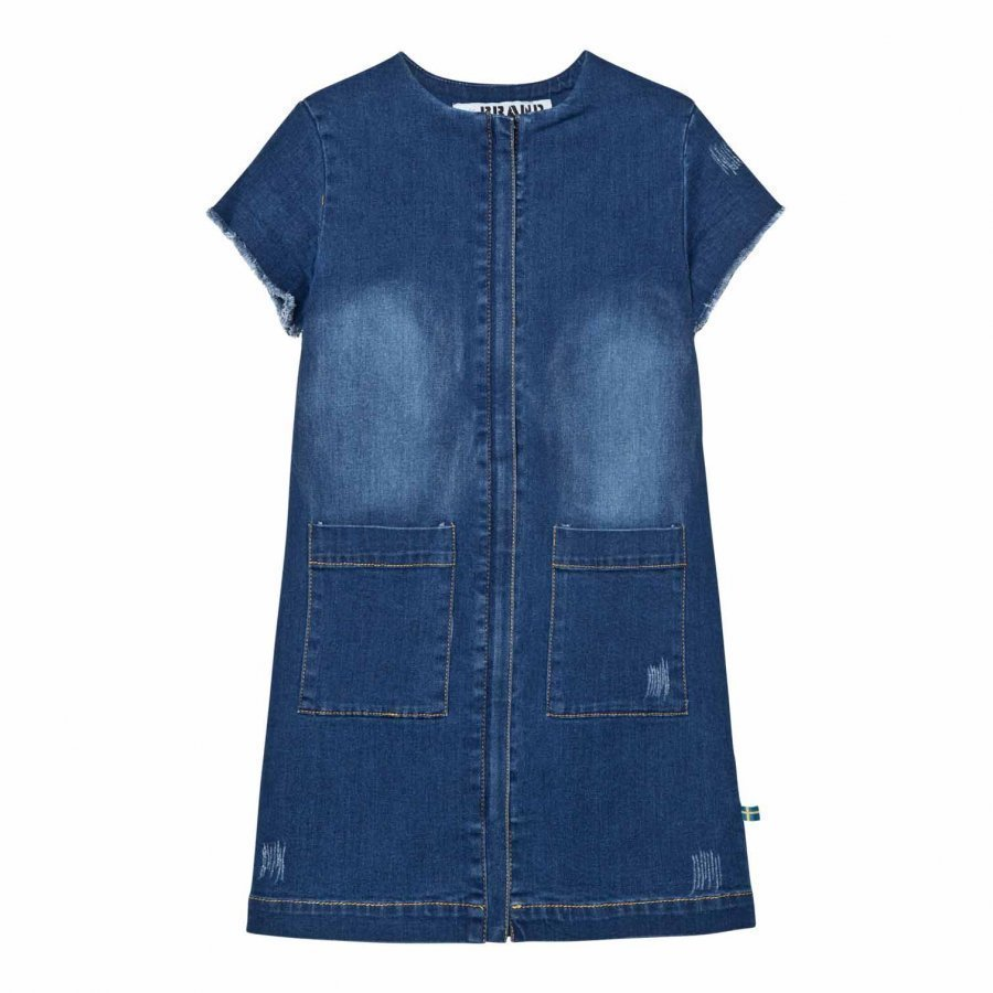 The Brand Denim Dress Stonewashed Blue Mekko