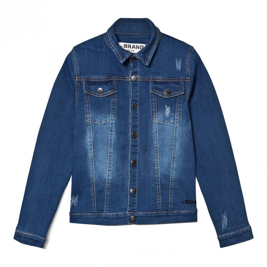 The Brand Denim Jacket Stonewashed Blue Farkkutakki