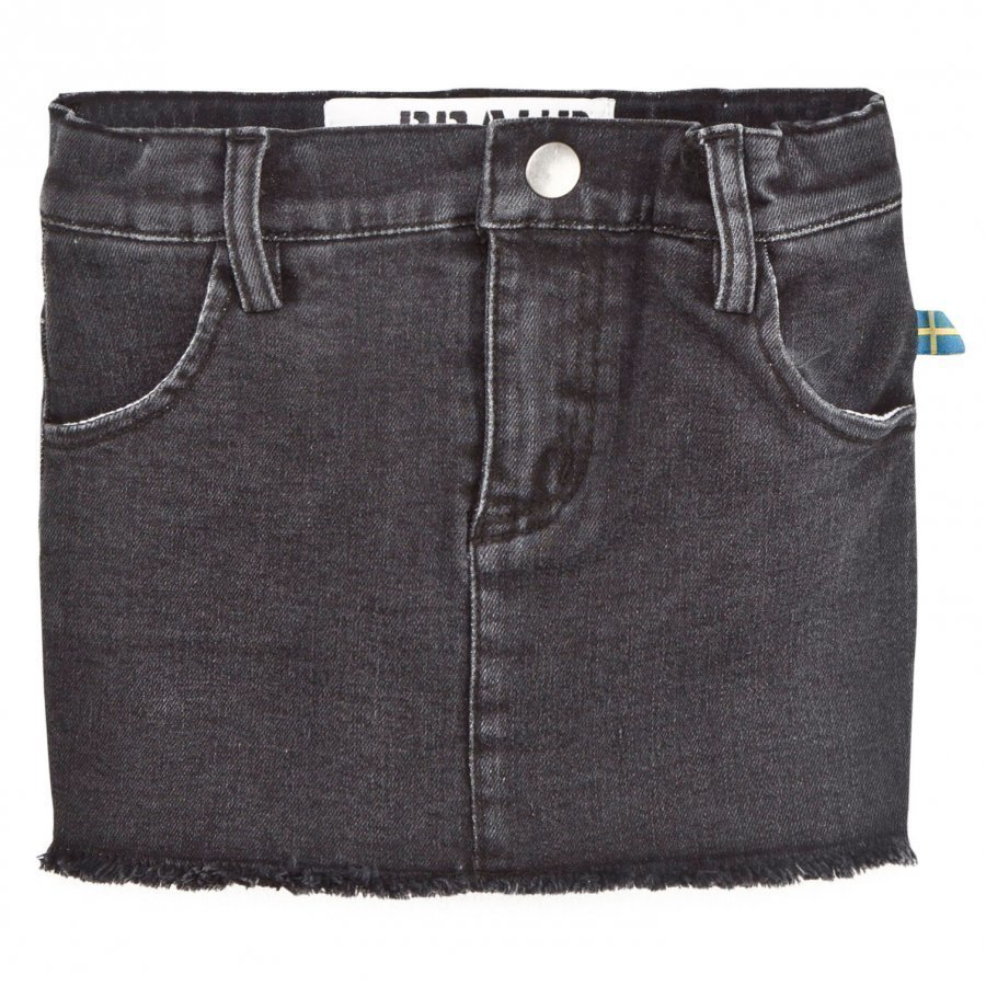The Brand Denim Jegging Skirt Heavy Washed Black Farkkuhame