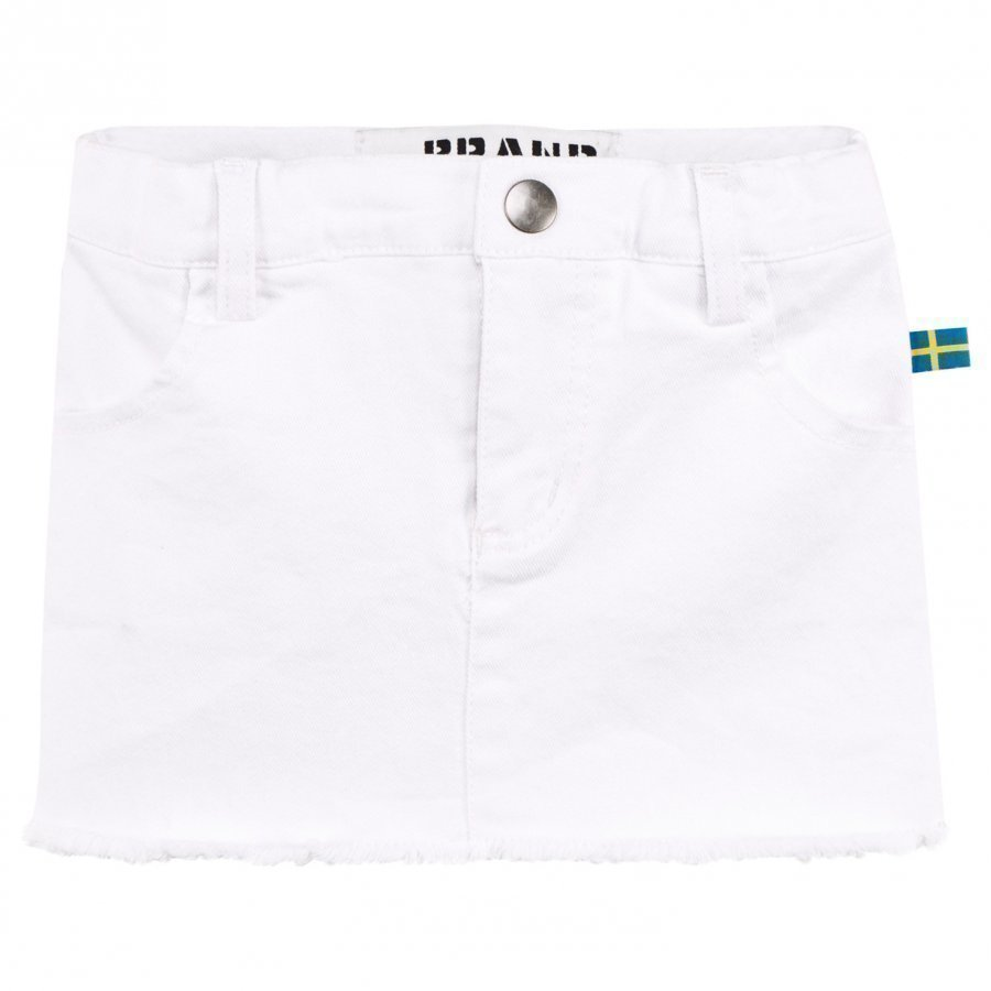 The Brand Denim Jegging Skirt Washed White Farkkuhame
