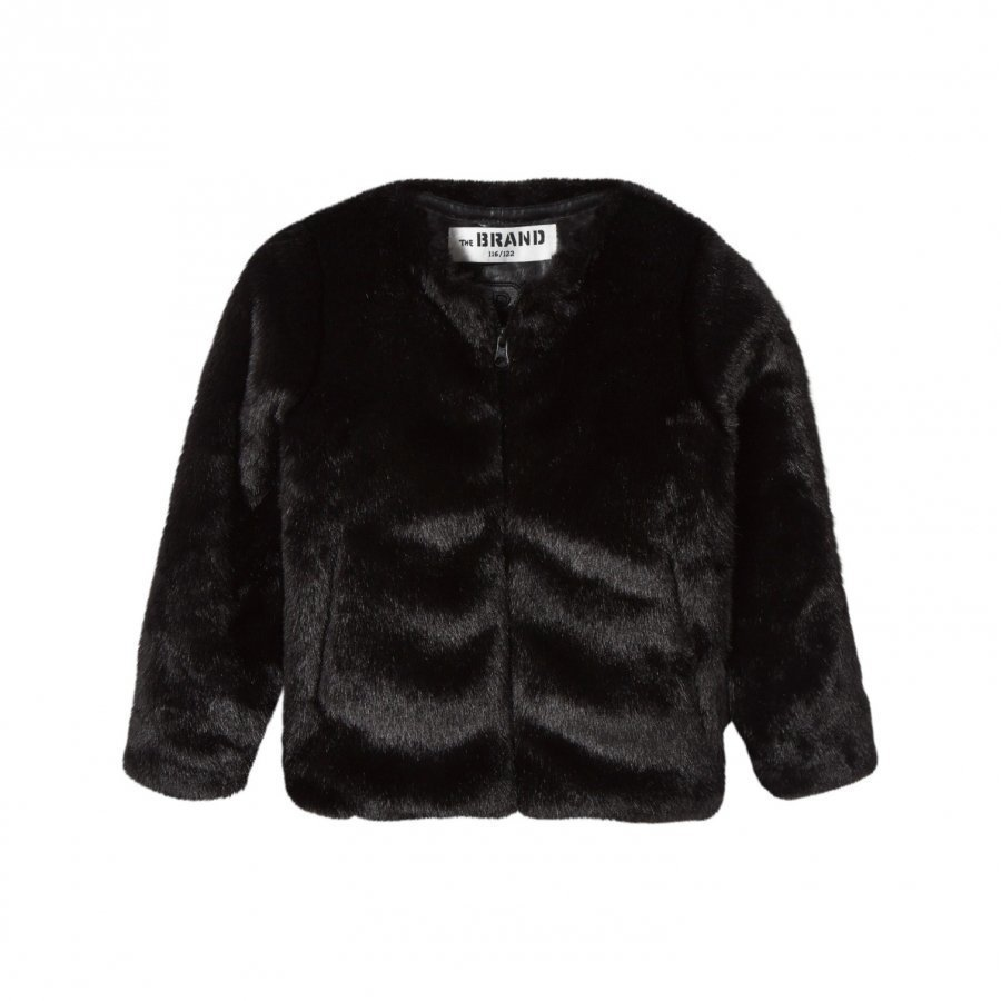 The Brand Faux Fur Jacket Black Turkis