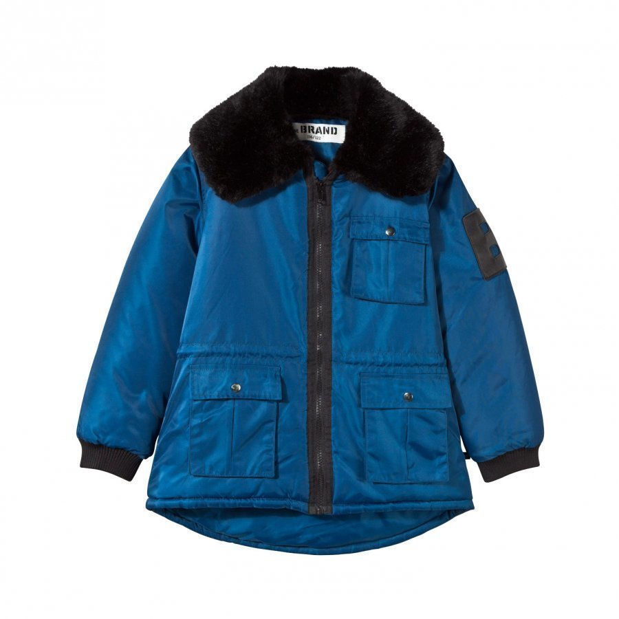 The Brand Faux Fur Parka Blue Parkatakki