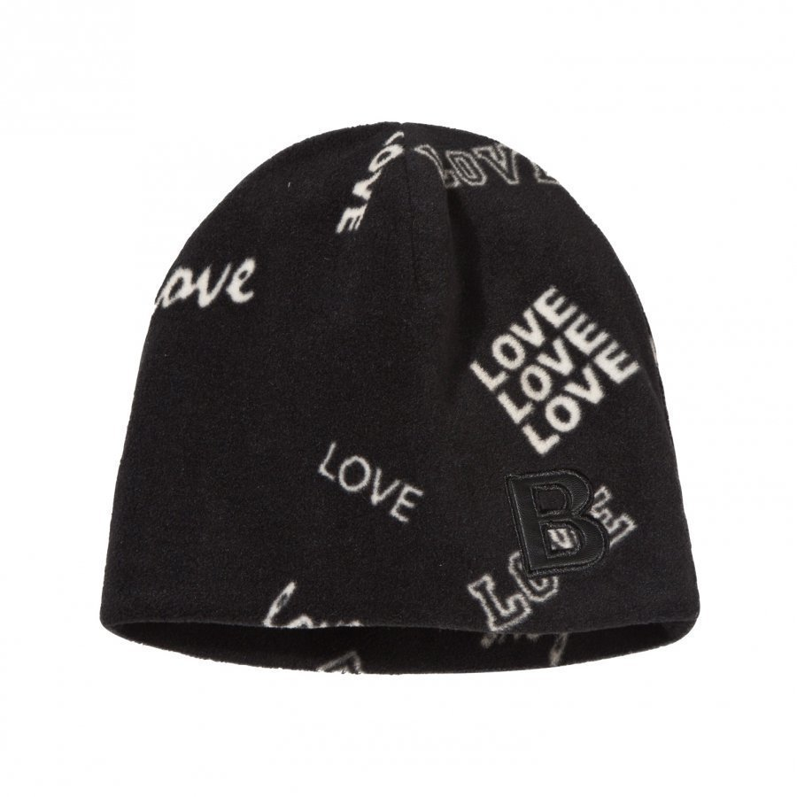 The Brand Fleece Hat Black Love Pipo