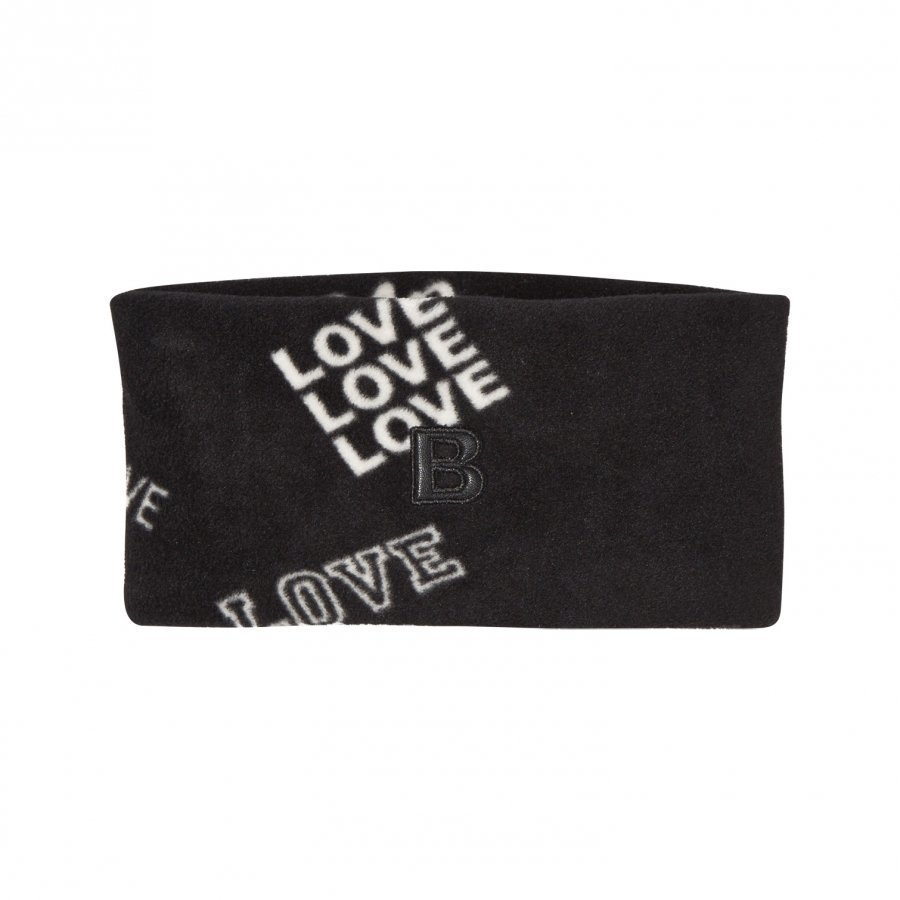 The Brand Fleece Headband Black Love Pipo