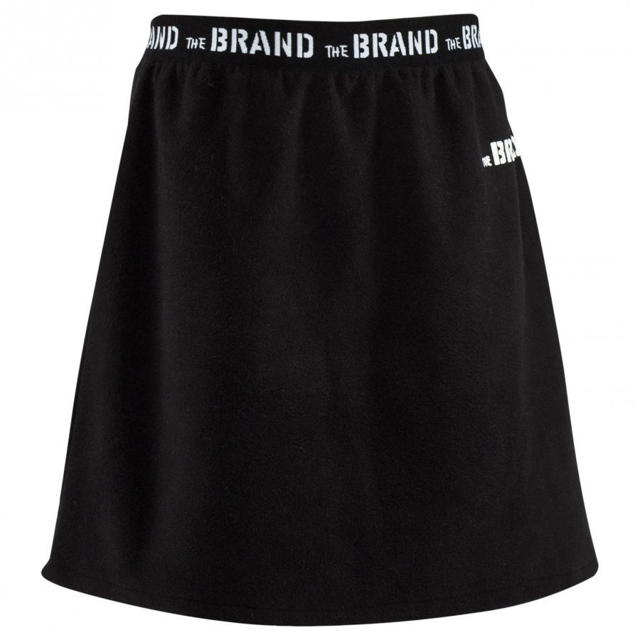 The Brand Fleece Skirt Black Midihame