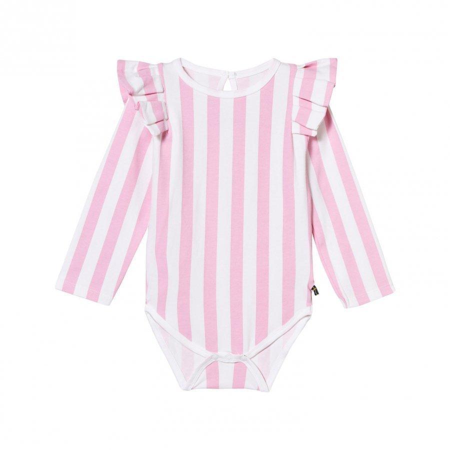 The Brand Flounce Baby Body Pink Stripe Body