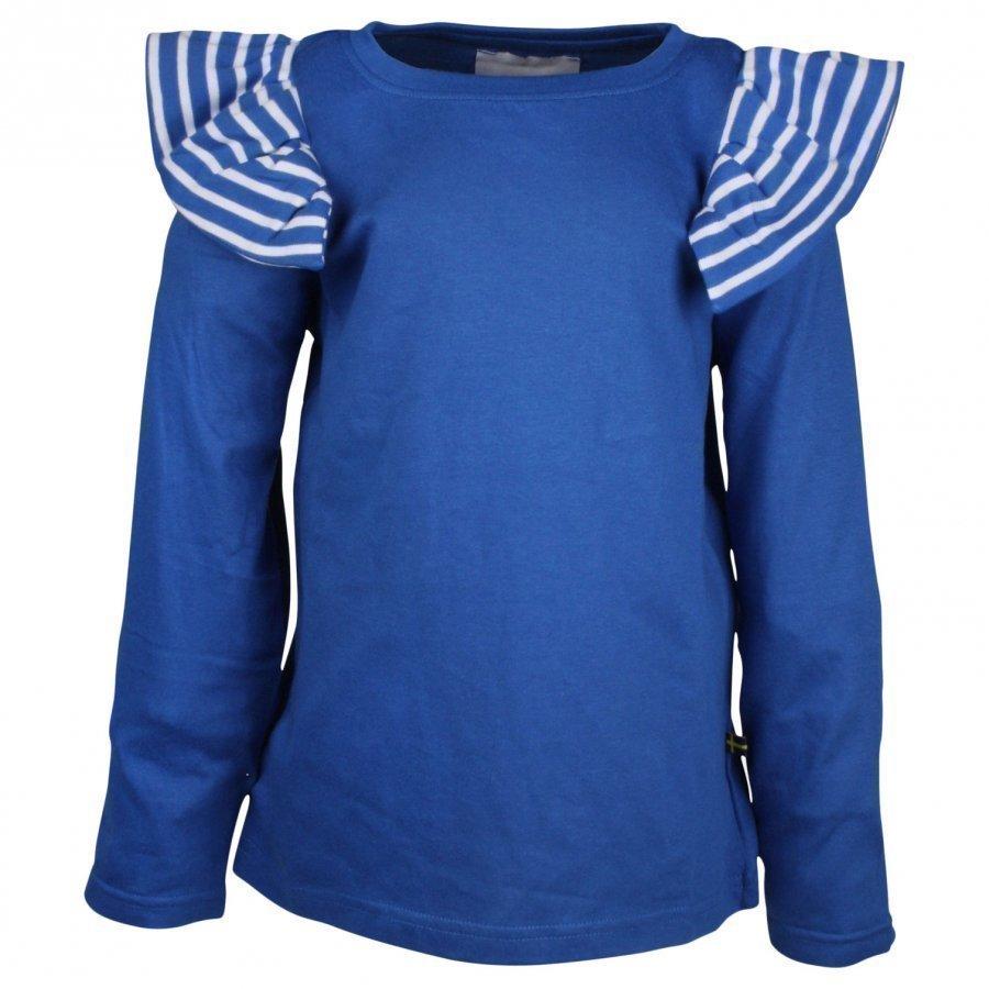 The Brand Flounce Tee Ls Blue Pitkähihainen T-Paita
