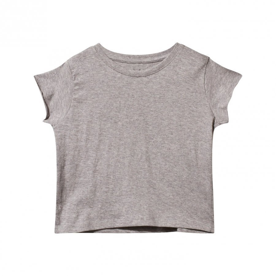 The Brand Fringe Back Top Grey T-Paita