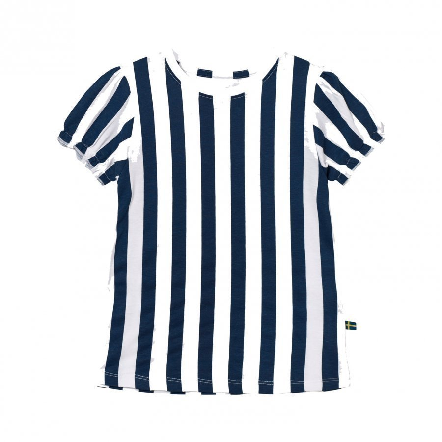 The Brand Girly Tee Blue Stripe Pusero