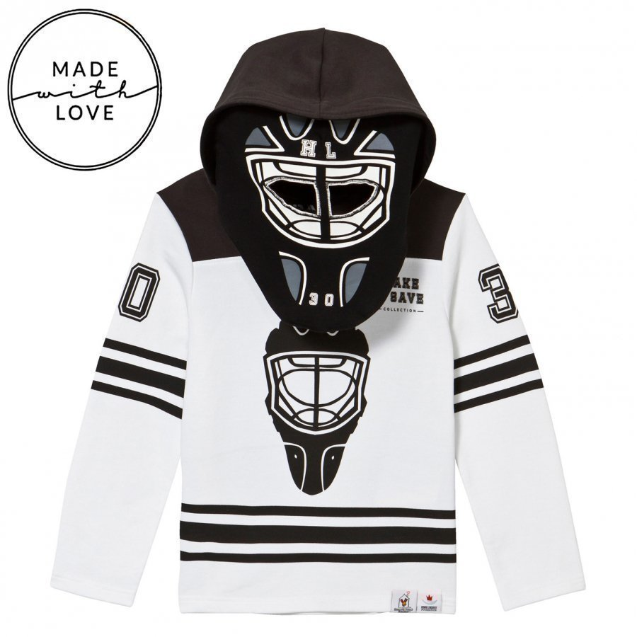 The Brand Goalie Hoodie Black/White Oloasun Paita