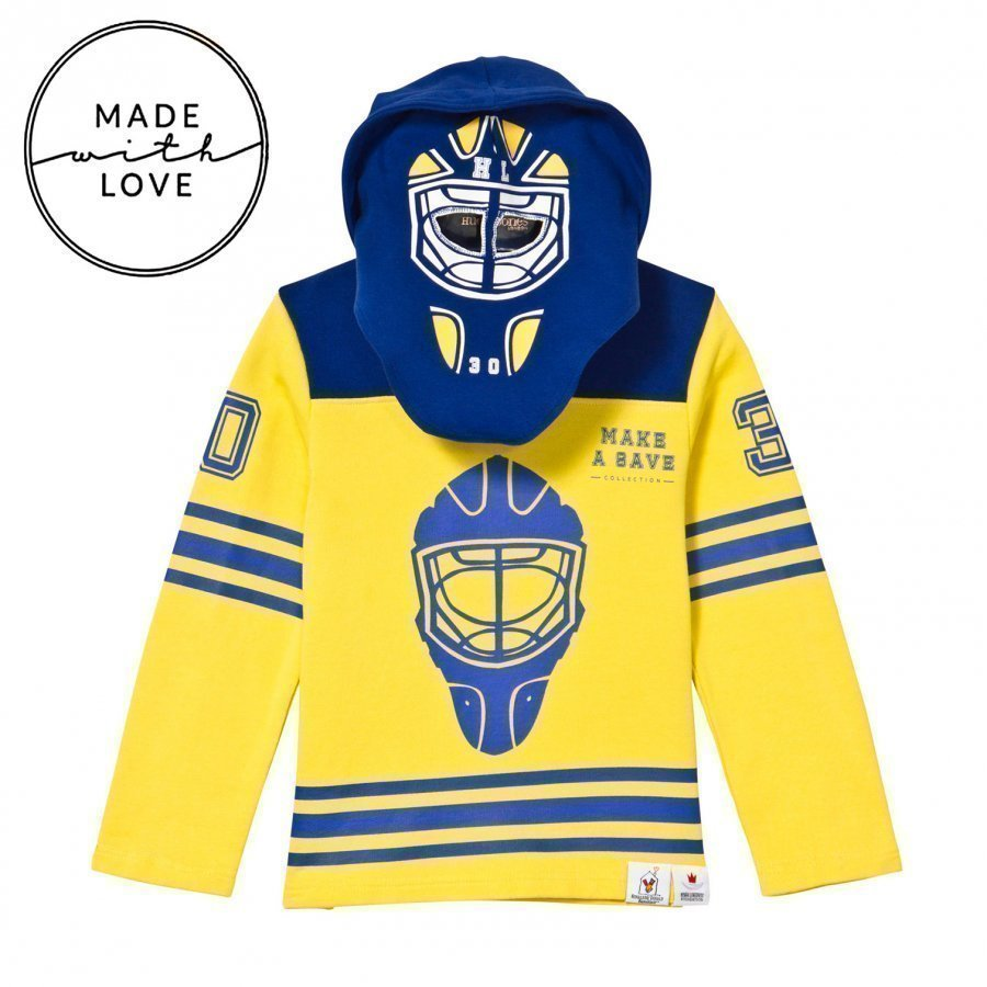 The Brand Goalie Hoodie Blue/Yellow Oloasun Paita
