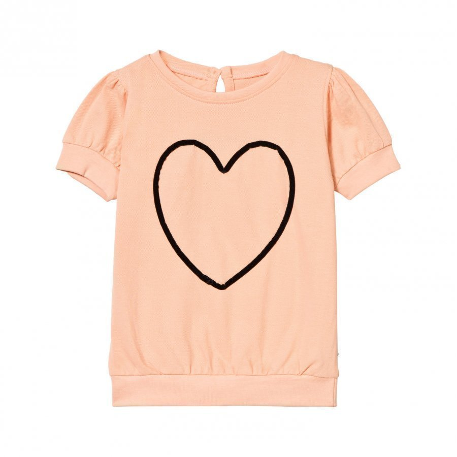 The Brand Heart Top Peach T-Paita