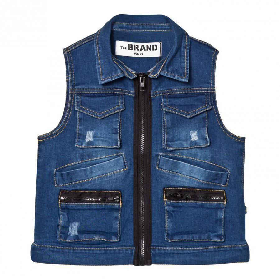 The Brand Hunter Vest Stonewashed Blue Toppaliivi