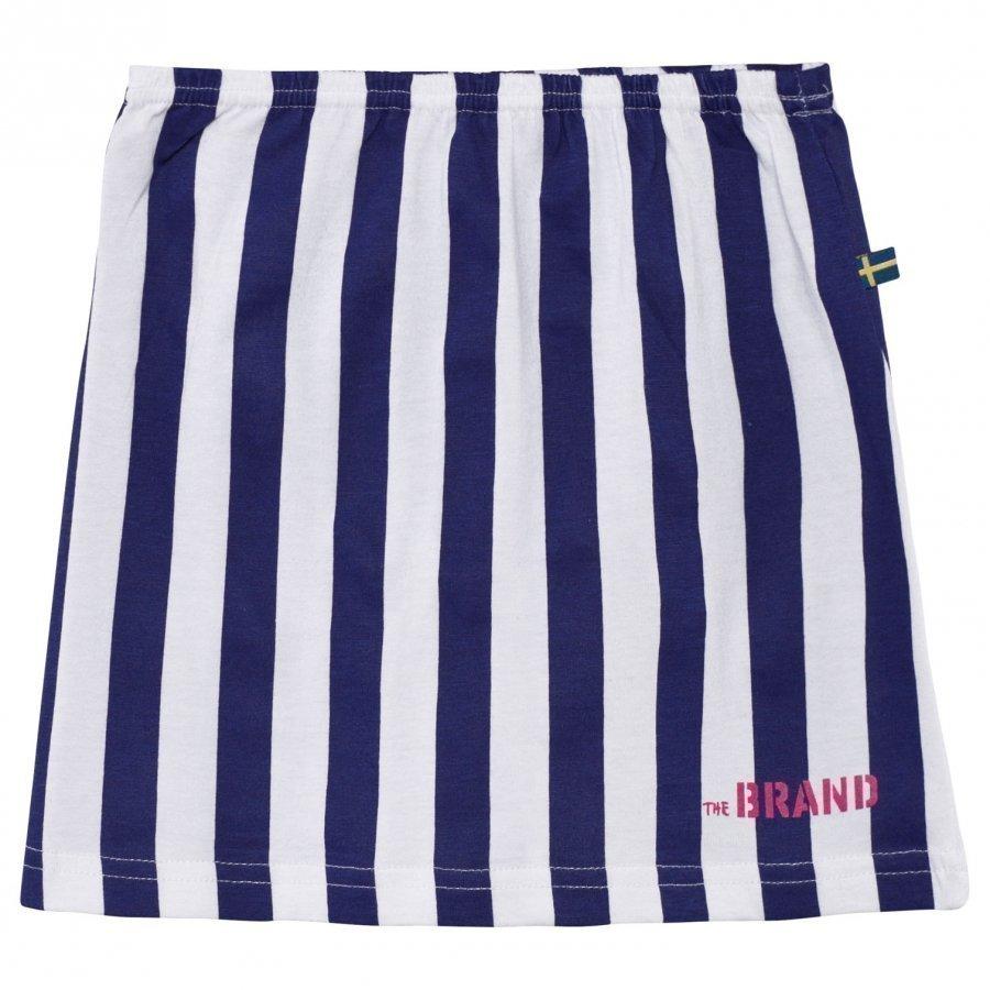 The Brand Jersey Hame Raidallinen Sininen/Valkoinen Midihame