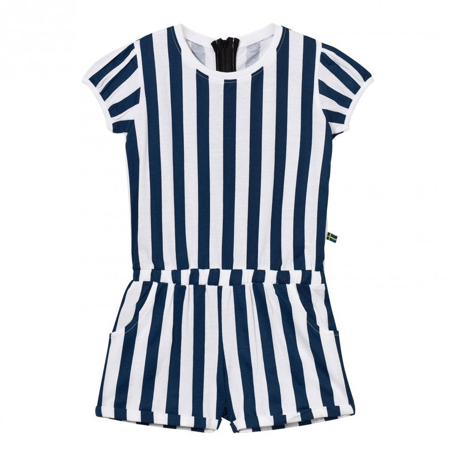 The Brand Jumpsuit Summer Blue Stripe Potkupuku