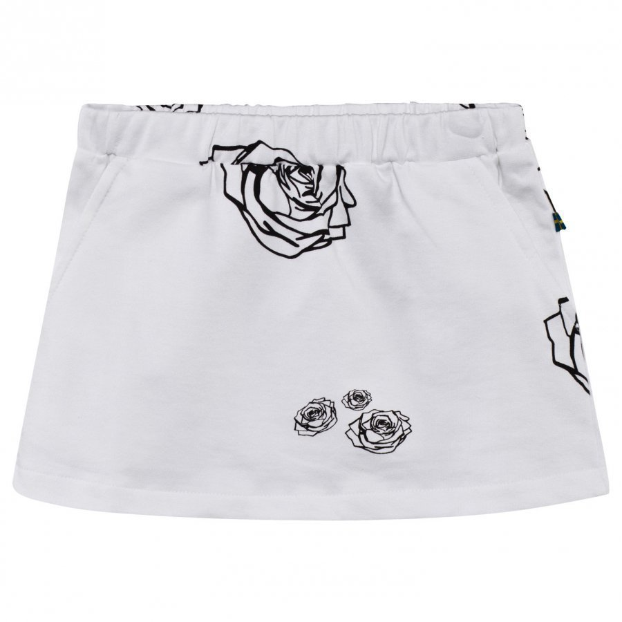 The Brand Kit Skirt White Roses Midihame
