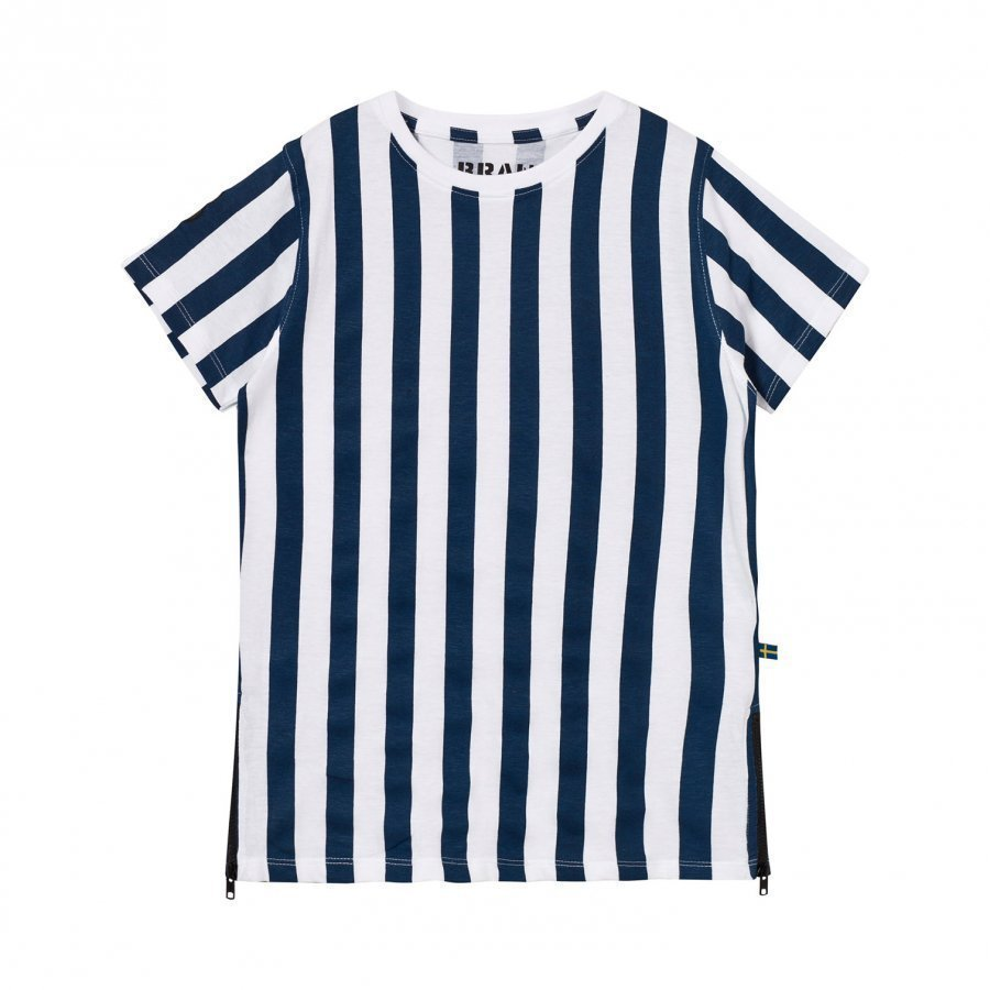 The Brand Long Tee Dress Blue Stripe Mekko