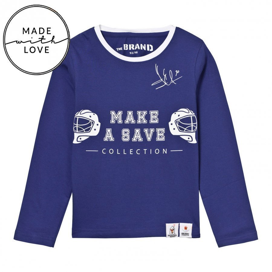The Brand Make A Save Diagonal Tee Blue Pitkähihainen T-Paita