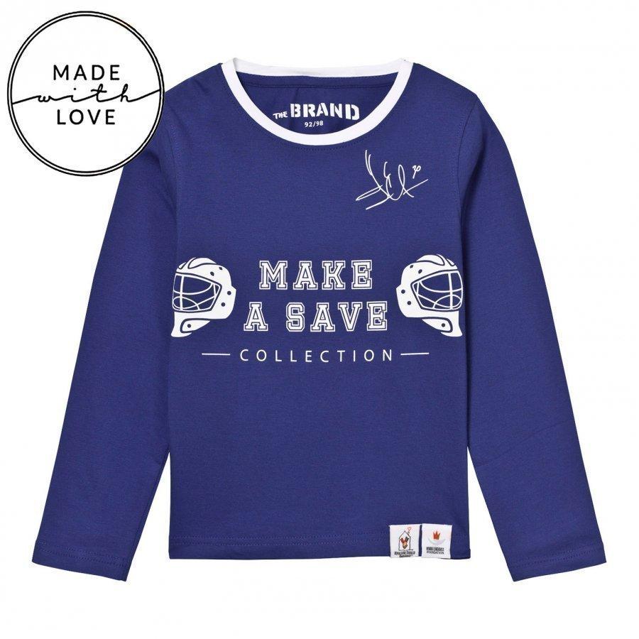 The Brand Make A Save Diagonal Tee Blue Pitkähihainen T-Paita