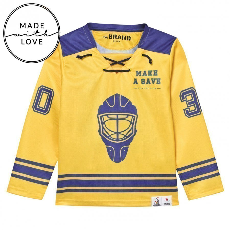 The Brand Make A Save Hockey Jersey Blue/Yellow Oloasun Paita