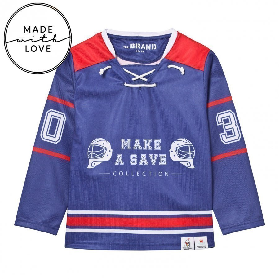 The Brand Make A Save Hockey Jersey Red/Blue Oloasun Paita