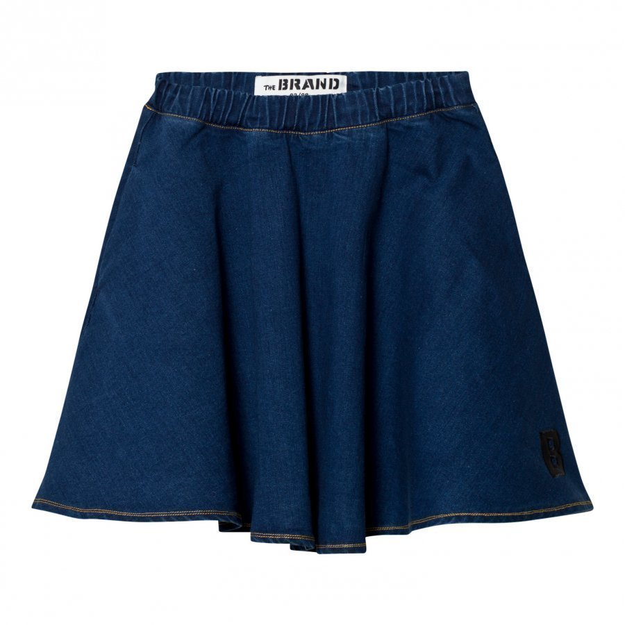 The Brand Maxi Skirt Stonewashed Blue Maxihame