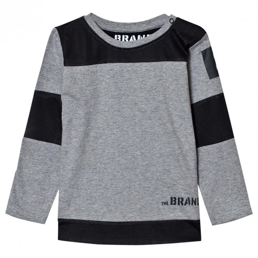 The Brand Mesh Tee Grey Mel Pitkähihainen T-Paita