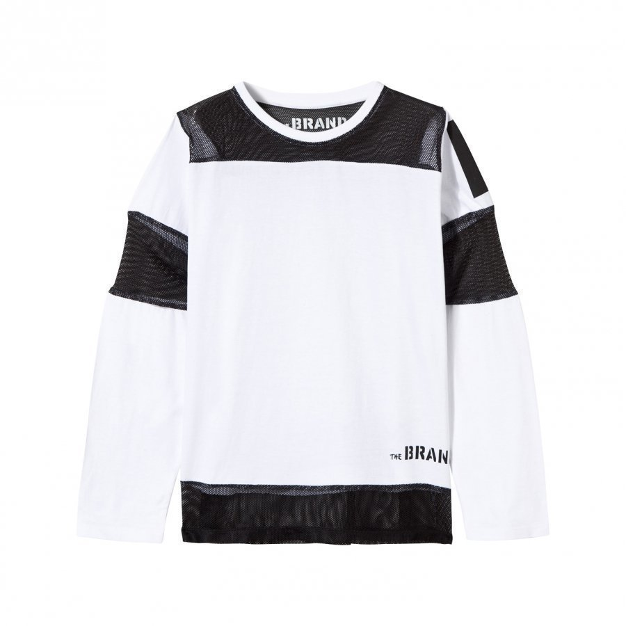 The Brand Mesh Tee White Pitkähihainen T-Paita