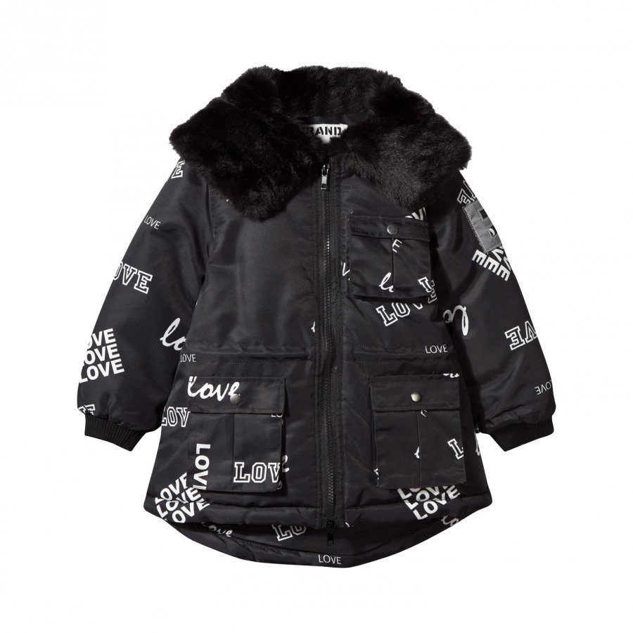 The Brand Parka Faux Fur Black Love Parkatakki