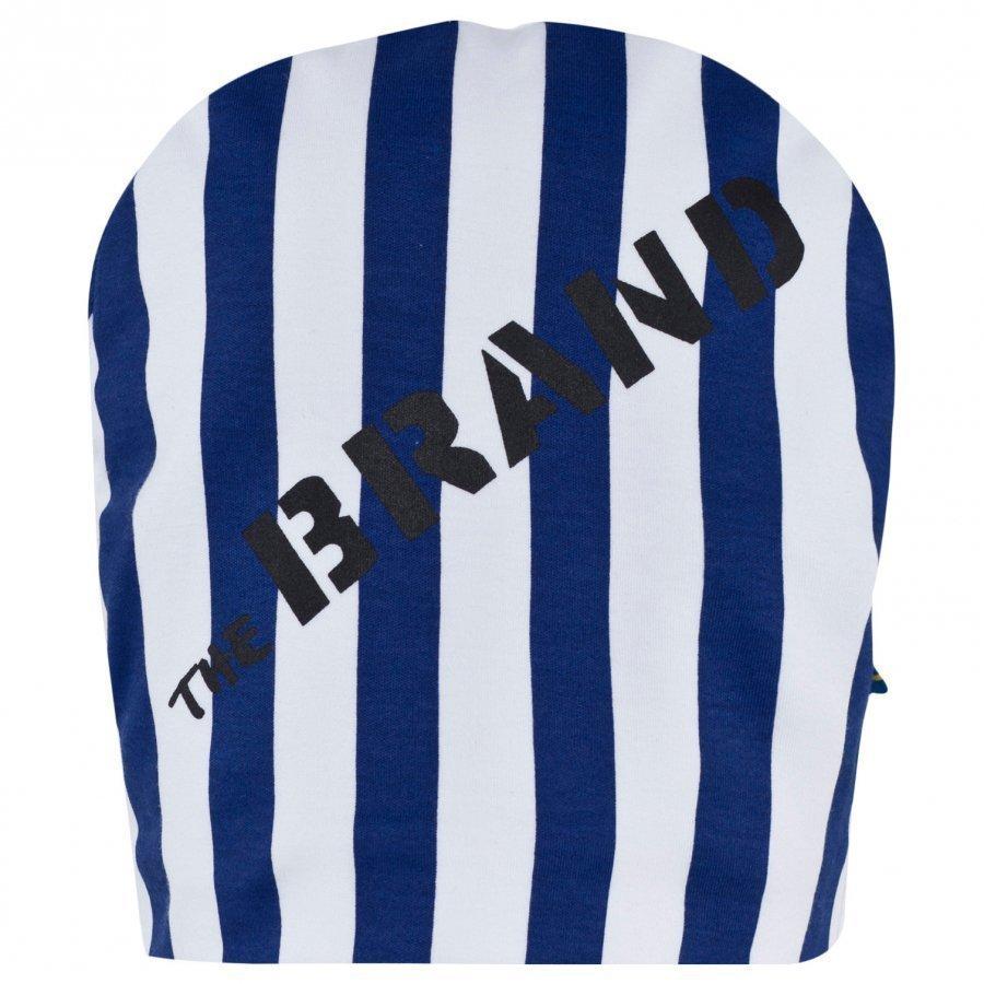 The Brand Pipo Raidallinen Sininen/Valkoinen Pipo