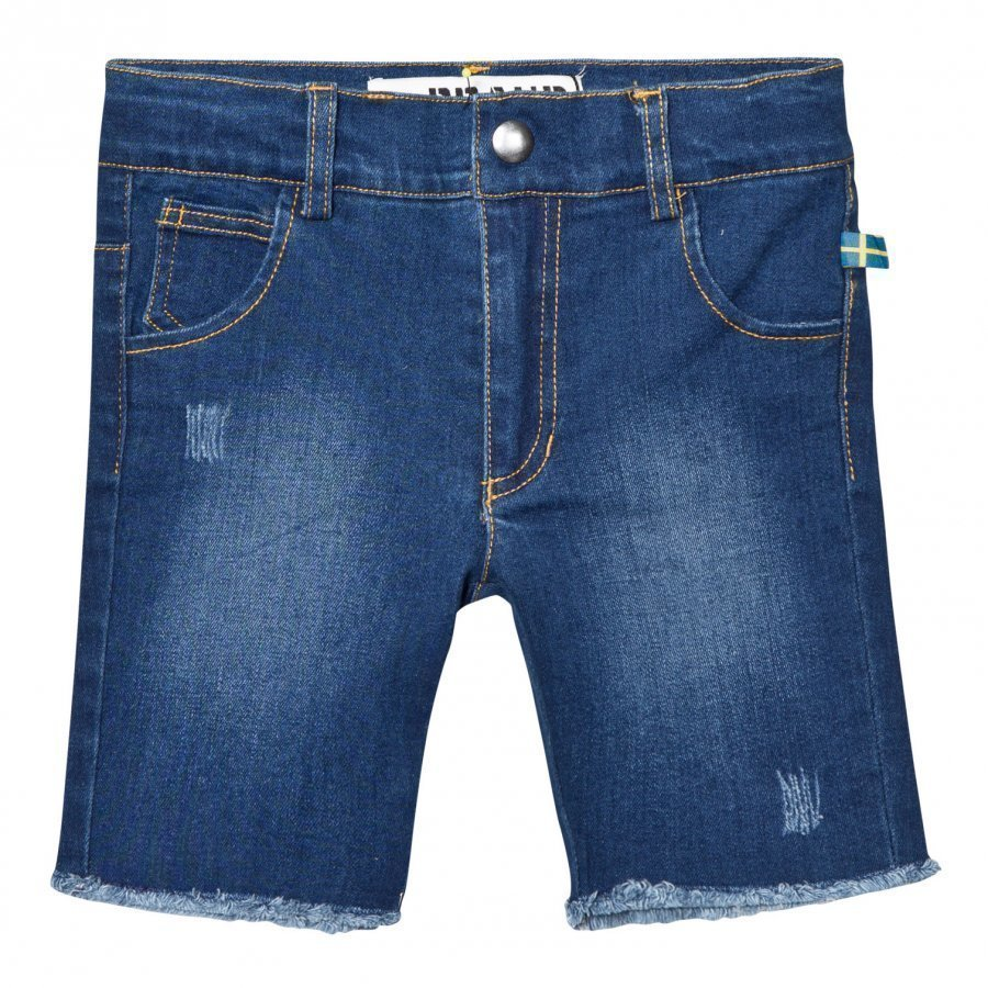 The Brand Raw Shorts Stonewashed Blue Farkkushortsit